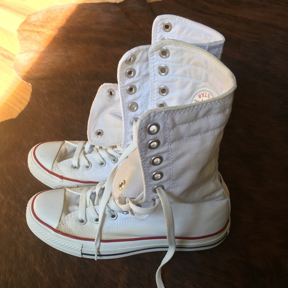 07393532fe4 Converse Shoes - Tall Converse high tops white